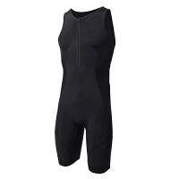 夏季新款男女式铁三服骑行服铁人三项无袖连体服运动服潜水游泳服 黑色