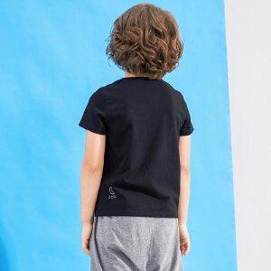 【尾品汇 5折直降】amii童装夏吃豆人男童圆领T恤中大童创意卡通休闲弹力短袖t恤