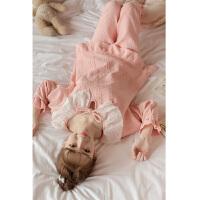 韩版甜美可爱公主全棉睡衣女秋季纯棉长袖春秋天家居服套装冬 粉色