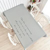 北欧餐桌布艺加厚棉麻小清新长方形茶几盖布电视柜桌布圆桌布台布