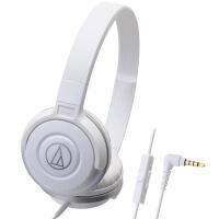 铁三角(Audio-technica)ATH-S100IS HIFI重低音线控带麦便携头戴式手机耳机 白色