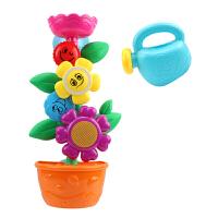 宝宝洗澡玩具儿童浴室戏水花朵转转乐婴儿喷水壶浴盆水车男孩女孩 花朵转转乐 送浇花壶