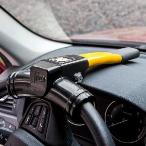 【支持礼品卡支付】金盾正品 汽车方向盘锁汽车锁具车头锁龙头锁车把锁小车防盗锁防身---升级版-火箭锁芯
