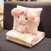 卡通午睡枕头汽车抱枕被子两用靠垫被大号空调被靠枕毯情人节礼物