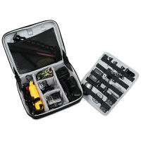 配件收纳包充电器收纳盒笔记本电源包相机GOPRO整理包 灰色【硬壳防护 自由组合】