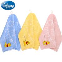迪士尼Disney小熊维尼气球无捻纱方巾 儿童纯棉小毛巾 厚实 卡通