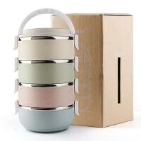 学生儿童手提锅 多层保温饭盒 分格不锈钢便当盒