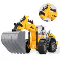 男孩大号惯性工程车铲车推土机挖土车挖掘机沙滩儿童玩具汽车模型 大号挖掘机