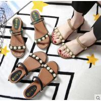 韩版坡跟凉拖鞋女百搭仙女鞋外穿罗马鞋平底凉鞋拖鞋两穿