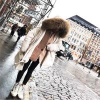 2018秋季新款2018反季时尚羽绒服女中长款韩版新款收腰显瘦加厚超大毛领潮