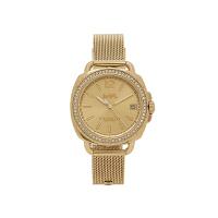 【网易考拉】COACH 蔻驰 女士金色不锈钢腕表