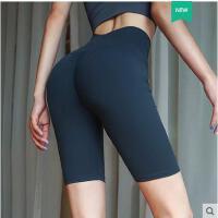 性感蜜桃瑜伽裤女弹力紧身运动裤提臀显瘦高腰跑步速干五分健身裤