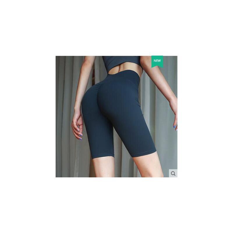 性感蜜桃瑜伽裤女弹力紧身运动裤提臀显瘦高腰跑步速干五分健身裤 品质保证 售后无忧