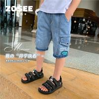 【2件2折】左西童装男童牛仔短裤夏季儿童五分裤子中大童洋气夏装2021新款潮