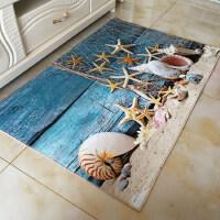 蓝色地中海风格小地毯儿童卡通地垫客厅沙发茶几卧室夏天家用脚垫