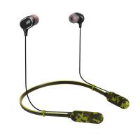 蓝牙耳机无线运动跑步双耳入耳式颈挂式iPhone8/7/6plus通用 L2 插卡蓝牙 迷彩绿 送收纳袋礼 标配