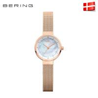 Bering白令手表女 经典简约钢带款太阳能女表 防水腕表14424