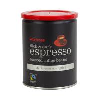 【网易考拉】【英国皇室 Waitrose】,烘烤意式浓缩原装进口咖啡豆 阿拉比卡咖啡豆和罗布斯塔咖啡豆混合 意式5级