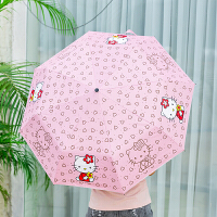 铅笔伞迷你便携折叠遮太阳晒紫外线黑胶女晴雨伞
