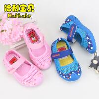 童鞋1-2-3岁宝宝凉鞋软底学步鞋女童网鞋单鞋