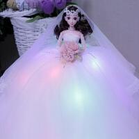 大裙摆芭比婚纱娃娃公主结婚女孩礼物生日玩具女朋友闺蜜礼盒婚庆 50cm左右
