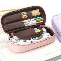 韩国简约小清新女生初中学生 可爱笔袋女大容量文具盒小学生铅笔盒