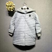 女童冬装宝宝棉衣 男女童秋冬款长款棉衣夹棉连帽中长款外套