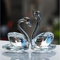 手机店眼镜珠宝水晶天鹅柜台装饰品摆件创意婚庆拍摄道具小摆件