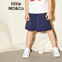 littlemoco夏季新品儿童裤子男撞色松紧腰头运动风男童休闲裤