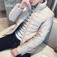 韩观冬季外套男士2017新款韩版潮流帅气棉衣短款羽绒棉袄