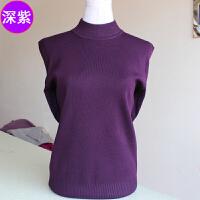 韩观中年女装毛衣秋冬新款中老年妈妈装半高领针织衫妈妈装打底衫 均码100-140斤好穿