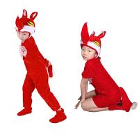 蓝红狐狸演出服儿童动物卡通表演服幼儿园舞台舞蹈服装狐狸演出服