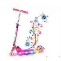 全铝合金酷炫刷街闪光儿童滑板车带灯带音乐儿童三轮滑轮车滑滑车