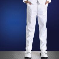 儿童长裤子钢琴表演出服童装白色礼服裤 男童白色西裤西装裤男孩 白色