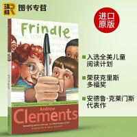 正版 Frindle 我们叫它粉灵豆 英文原版 美国经典校园儿童小说 全英文版进口英语书籍 安德鲁克莱门斯代表作