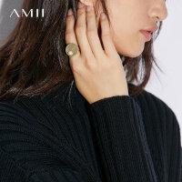 【到手价:71元】Amii[极简主义]精致珍珠+电镀哑金戒指女新款首饰戒指