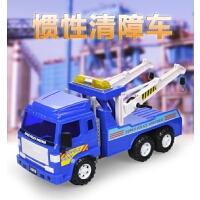 惯性道路清障车模型男孩工程车合金拖车吊车救援车玩具