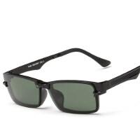 近视墨镜偏光 近视太阳镜 轻巧TR90全框眼镜架男女款镜框夹片吸片