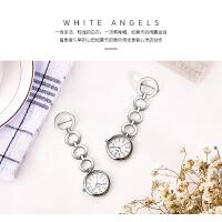 护士表 时尚挂表医院用表气质手表 防水怀表女款学生钢带胸表