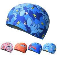 2018新款游泳帽 男女儿童泳帽 可爱卡通图案宝宝泳帽 护发布泳帽
