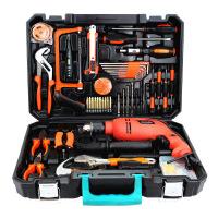 哈博-冲击电钻家用电动工具套装 多功能电木工五金礼品组合组套工具箱