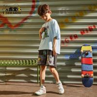 【任选专区3件89元】小虎宝儿男童装夏季宽松短袖T恤儿童2021年新款纯棉中大童