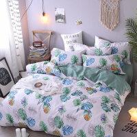 家纺纯棉床上四件套全棉公主风床单被套1.8m双人被罩1.5米宿舍三件套