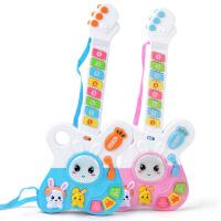 儿童吉他玩具迷你动物仿真乐器琴带音乐男女孩玩具3岁可弹奏