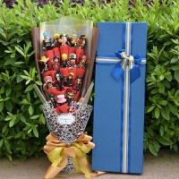 七夕礼物情人节送男友男朋友生日礼物特别男生个性diy男士礼品浪漫的 大礼盒海贼咖啡色红绵纸 60*20cm