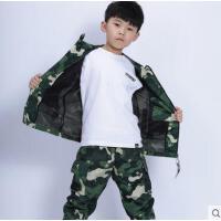 儿童迷彩服套装运动童军装两件套装男童春装新款男孩休闲