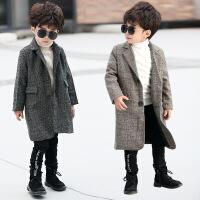 2宝宝大衣男1一3岁7男童潮加厚儿童风衣中长款帅气男宝外套亚麻冬