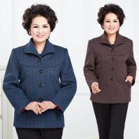 秋冬季新款妈妈装开衫上衣大码宽松中老年女装休闲外套50-60岁新