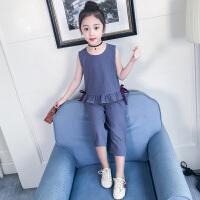 女童夏装新款套装洋气韩版儿童装夏季大童时髦运动两件套潮衣