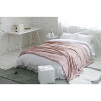 家纺冬季加厚保暖珊瑚绒毛毯单双人法兰绒毯子沙发盖毯法莱公主 粉红色 雀希